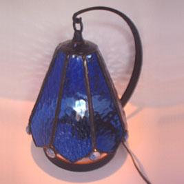 ステンドグラス ブルー ランプ