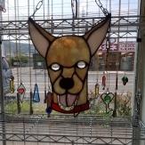 愛犬をステンドグラスで表現してみました。