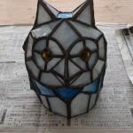 ステンドグラスで作ったフクロウです