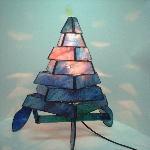 3作目ステンドグラスのランプ