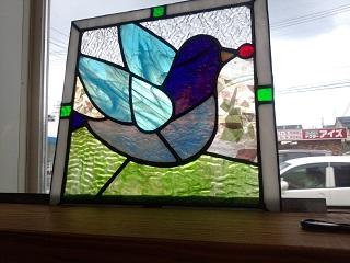 息子の部屋に飾る予定のステンドグラス